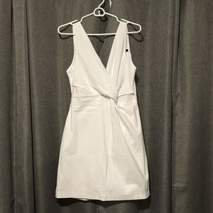 White front twisted dress